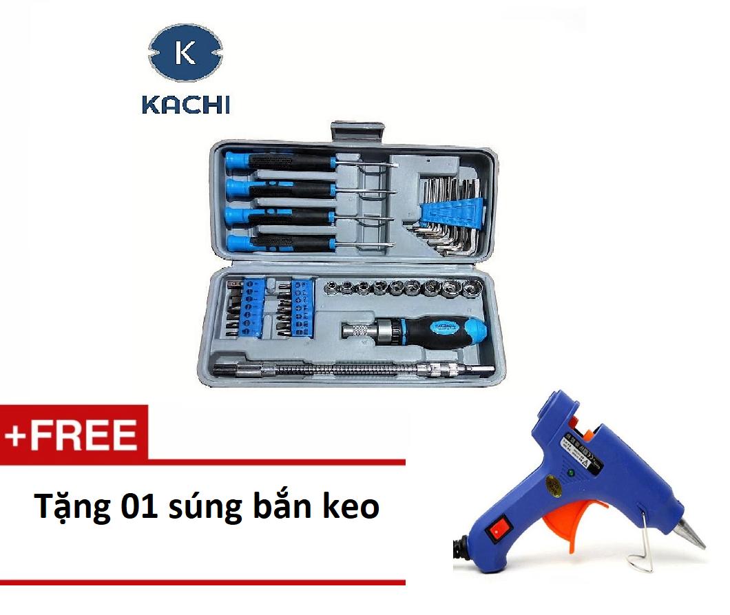 Bộ dụng cụ vặn vít  MK37 - Kachi  + Tặng súng bắn keo