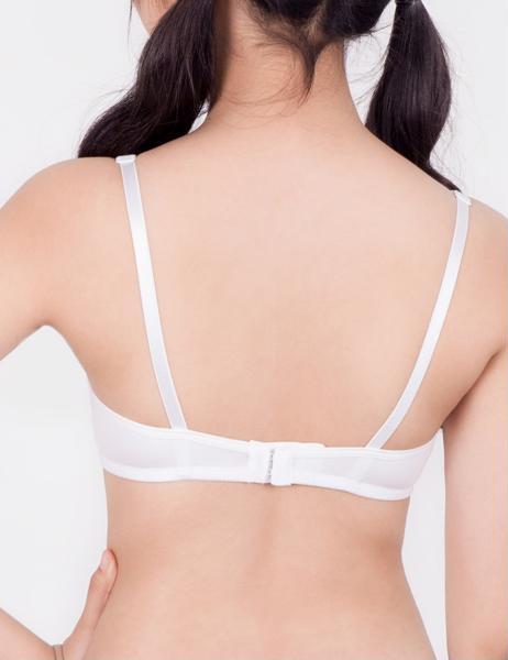 Combo 3 áo ngực teen cotton cài sau màu trắng iBasic VA107
