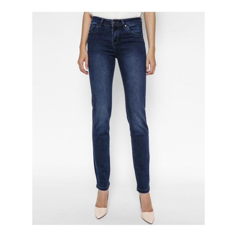 Quần jeans nữ ống đứng midnight SLSVT_MN