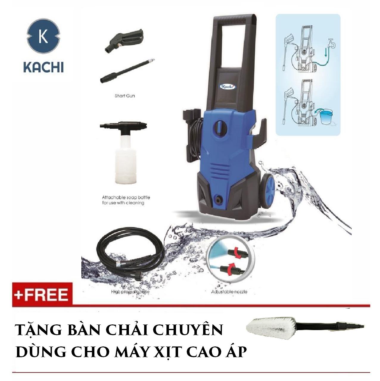 Máy phun rửa tự hút nước Kachi + Tặng bàn chải
