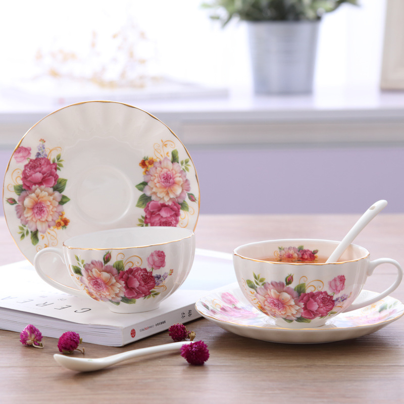 Bộ ấm trà bếp nền ( Hoa Hồng)