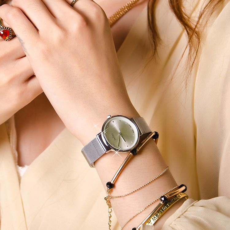 Đồng hồ nữ Julius siêu mỏng JU1052 (Bạc)