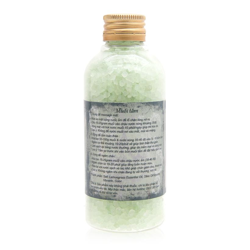 Muối tắm tinh dầu sả chanh Ecolife 200g