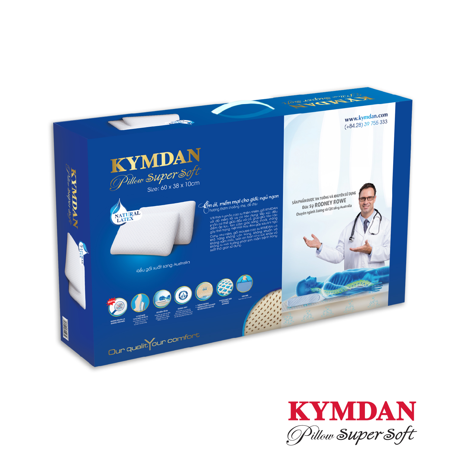 Gối Kymdan Pillow Supersoft