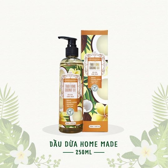 Dầu dừa Home made Milaganics 250ml