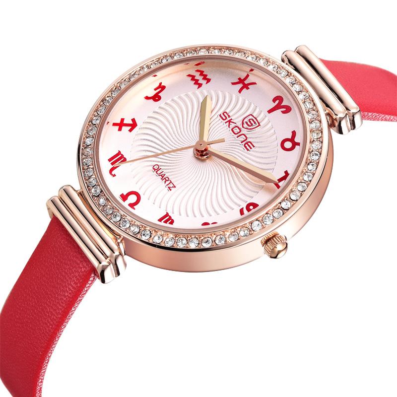 Đồng hồ nữ Skone 9169 màu đỏ