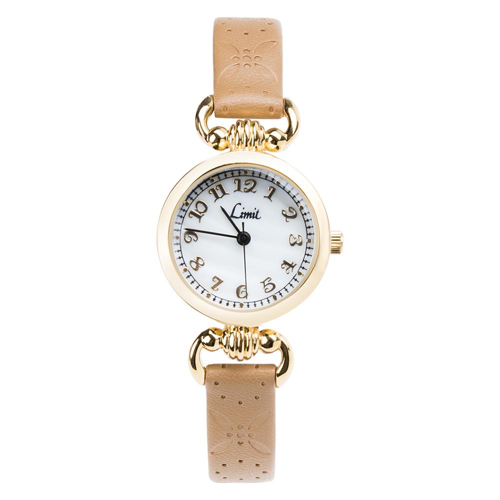 Đồng hồ kim nữ Limit 6139 dây kim loại màu vàng