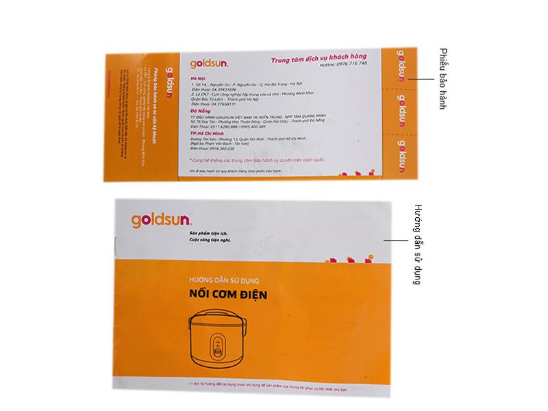Nồi cơm điện Goldsun 1,8 lít ARC-G18DM (màu đỏ)