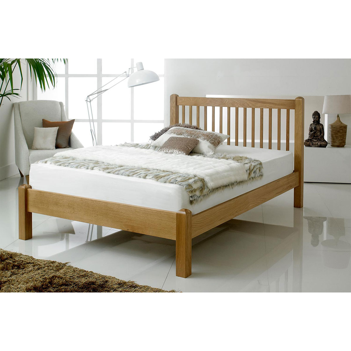 Giường đôi IBIE Trafagar gỗ sồi 2m