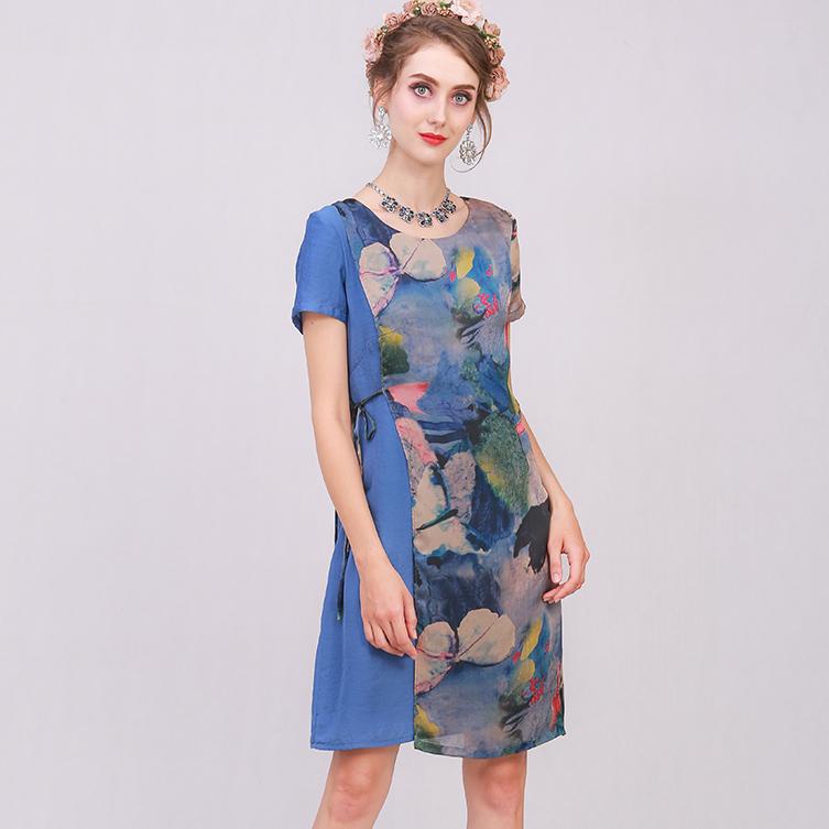 Đầm lụa tơ Salito 2 lớp cao cấp DL17029