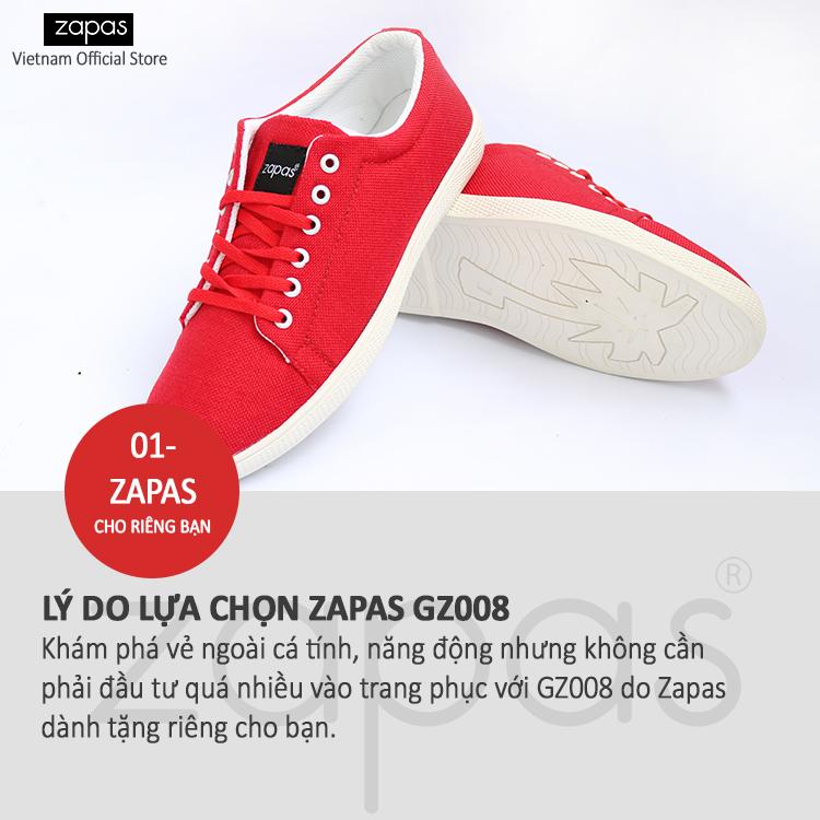 Giày sneaker Zapas classical GZ008 (Đỏ)