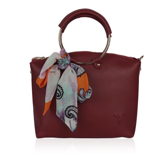 Túi xách thời trang Verchini màu đỏ đô 004910