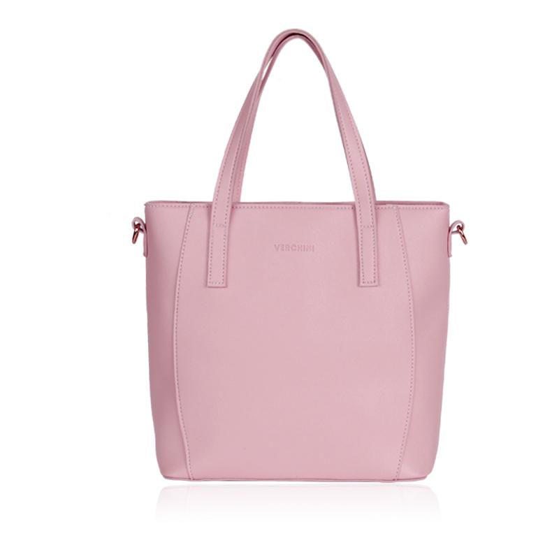 Túi xách Verchini màu hồng phấn 005532