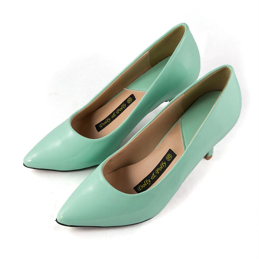 Giày cao gót xanh mint Dolly & Polly