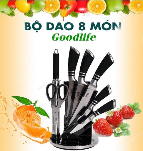 Bộ dao 8 món thép không gỉ GoodLife (134001-C22)