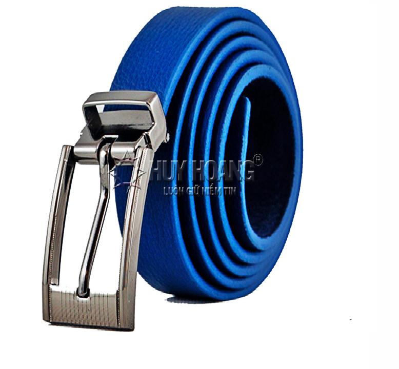 Thắt lưng nữ da bò Huy Hoàng màu xanh HV5127