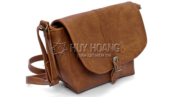 Túi xách bầu lớn Huy Hoàng màu bò nhạt HV6145
