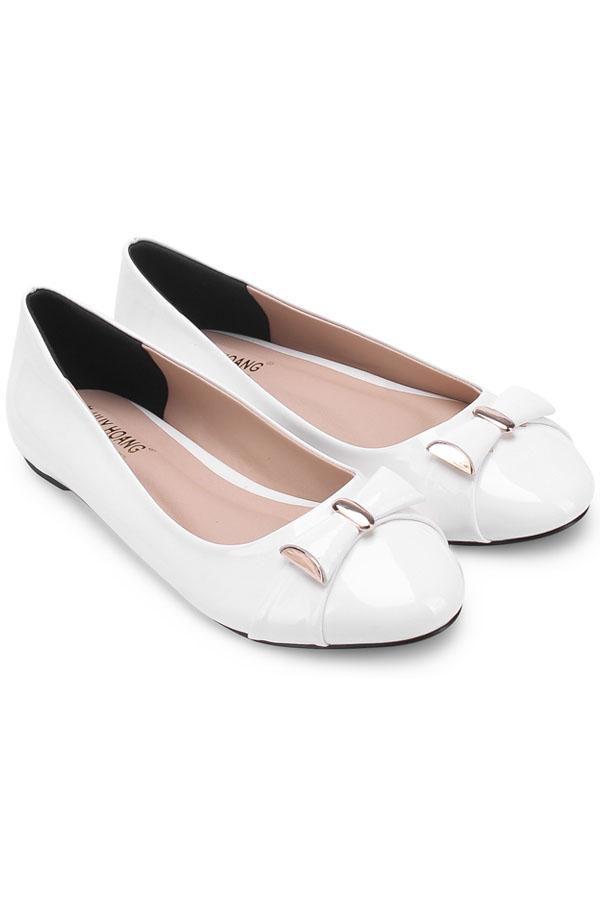 Giày nữ Huy Hoàng đế bệt màu trắng HV7004