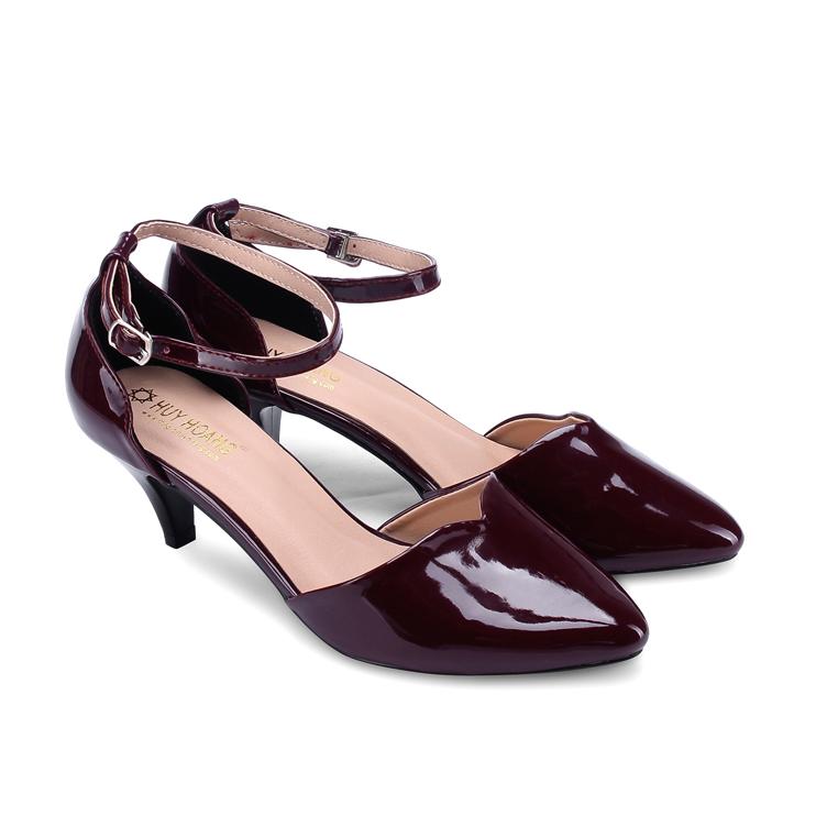 Giày nữ Huy Hoàng đế 5cm màu nho HV7013