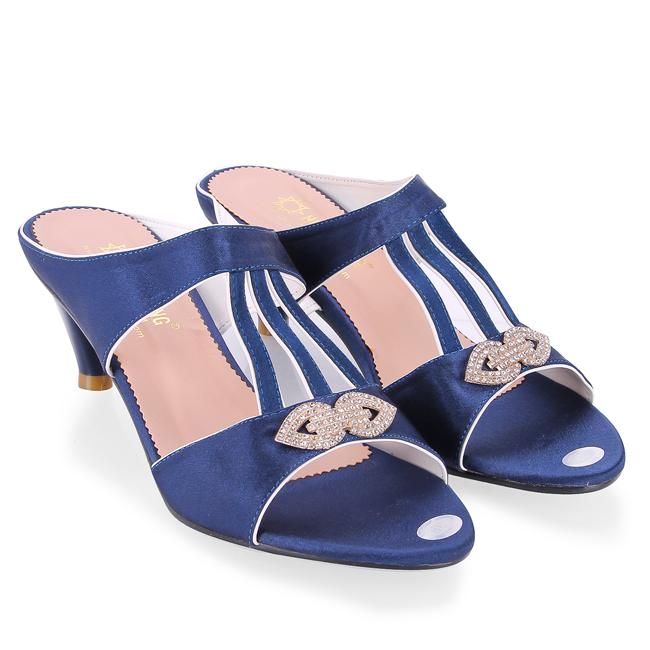 Giày nữ Huy Hoàng đế xuồng màu xanh HV7050