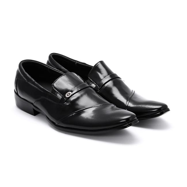 Giày tây nam Huy Hoàng màu đen HV7106