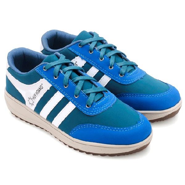 Giày thể thao nam Huy Hoàng cột dây màu xanh dương HV7608
