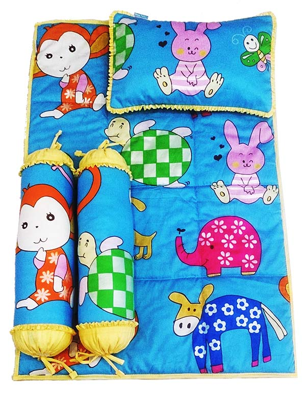 Bộ 4 món ga gối Sleep Baby - Monkey & Friends
