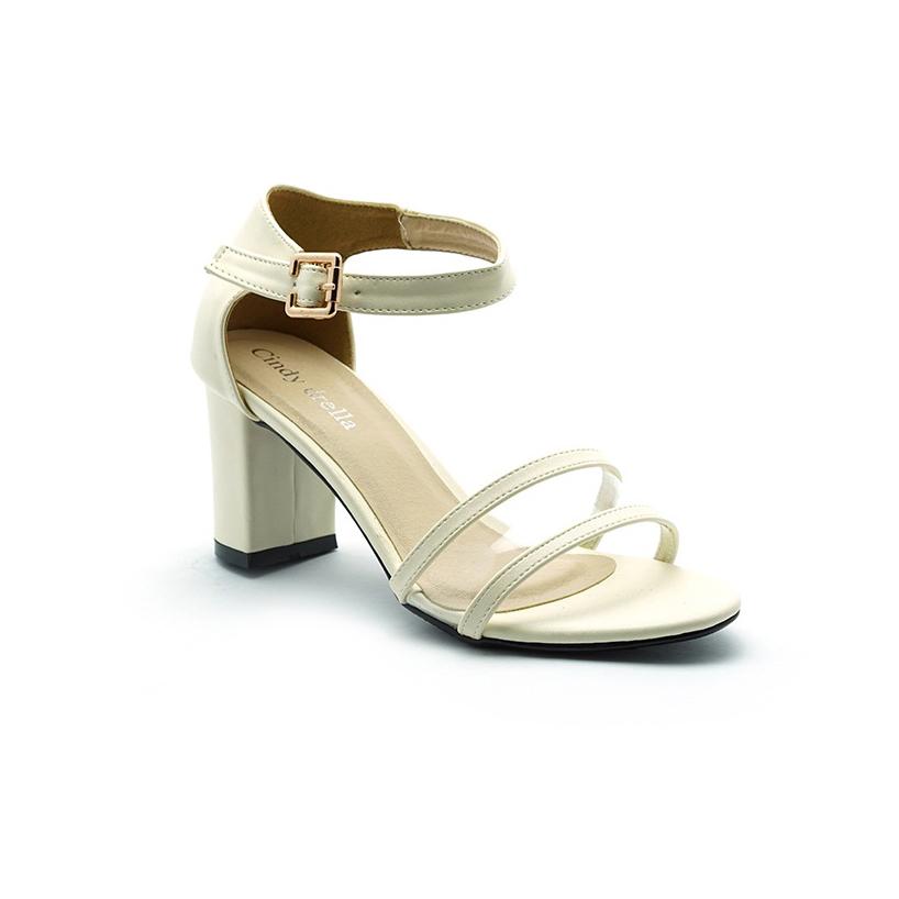 Giày nữ Cindydrella - CINDY21K giày cao gót 7cm (Kem)