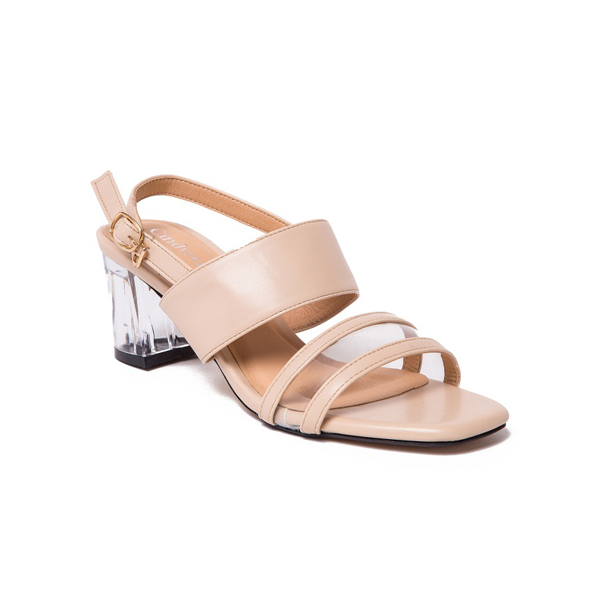 Giày nữ Cindydrella - CINDY45K giày cao gót 5cm (Kem)