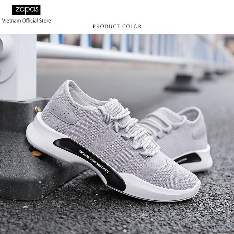 Giày sneaker thời trang nam Zapas – GS091 (Xám)