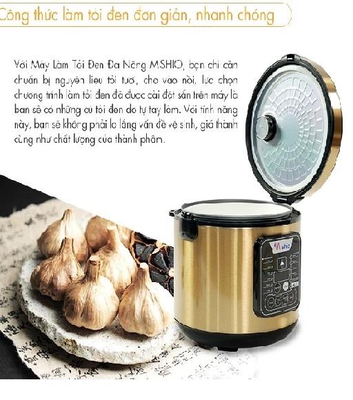 Máy làm tỏi chuyên dụng Mishio MK10 - Tặng cây lau nhà 360
