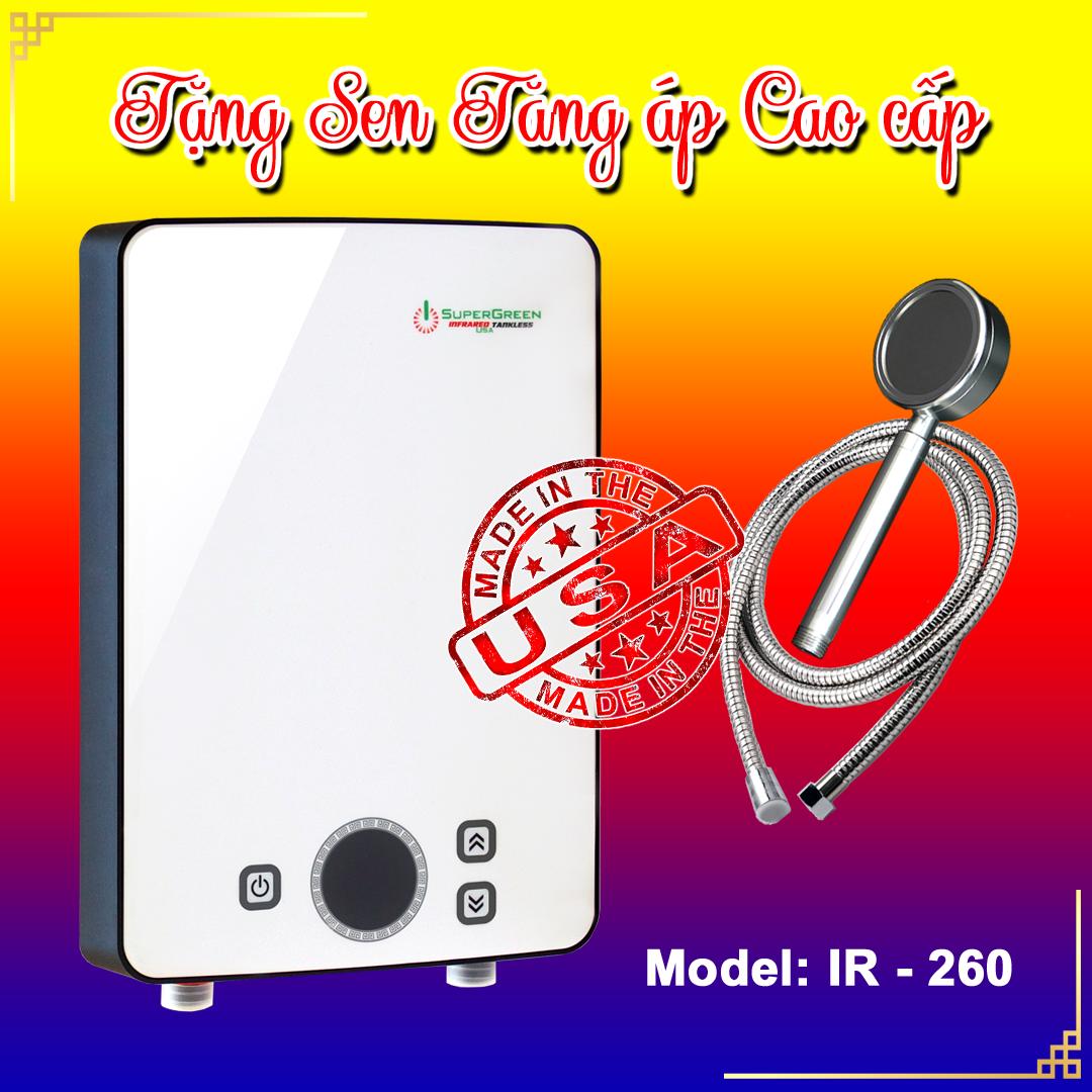 Máy tắm nước nóng hồng ngoại SuperGreen IR-260