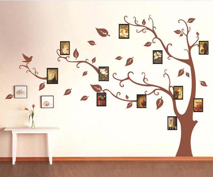Decal dán tường cây khung hình 10 Pk492