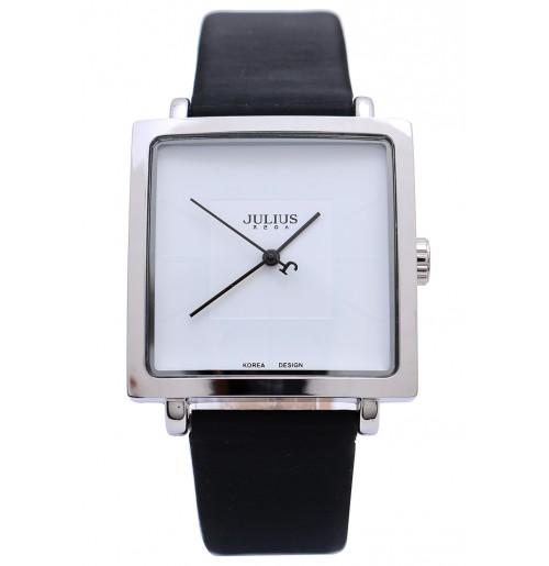 Đồng hồ nữ Julius Hàn Quốc mặt vuông JA-354 JU1213 (đen mặt trắng)
