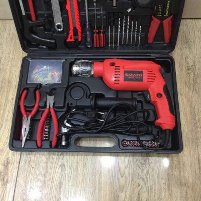 Bộ dụng cụ sửa chữa đa năng Smato 118 chi tiết có máy khoan