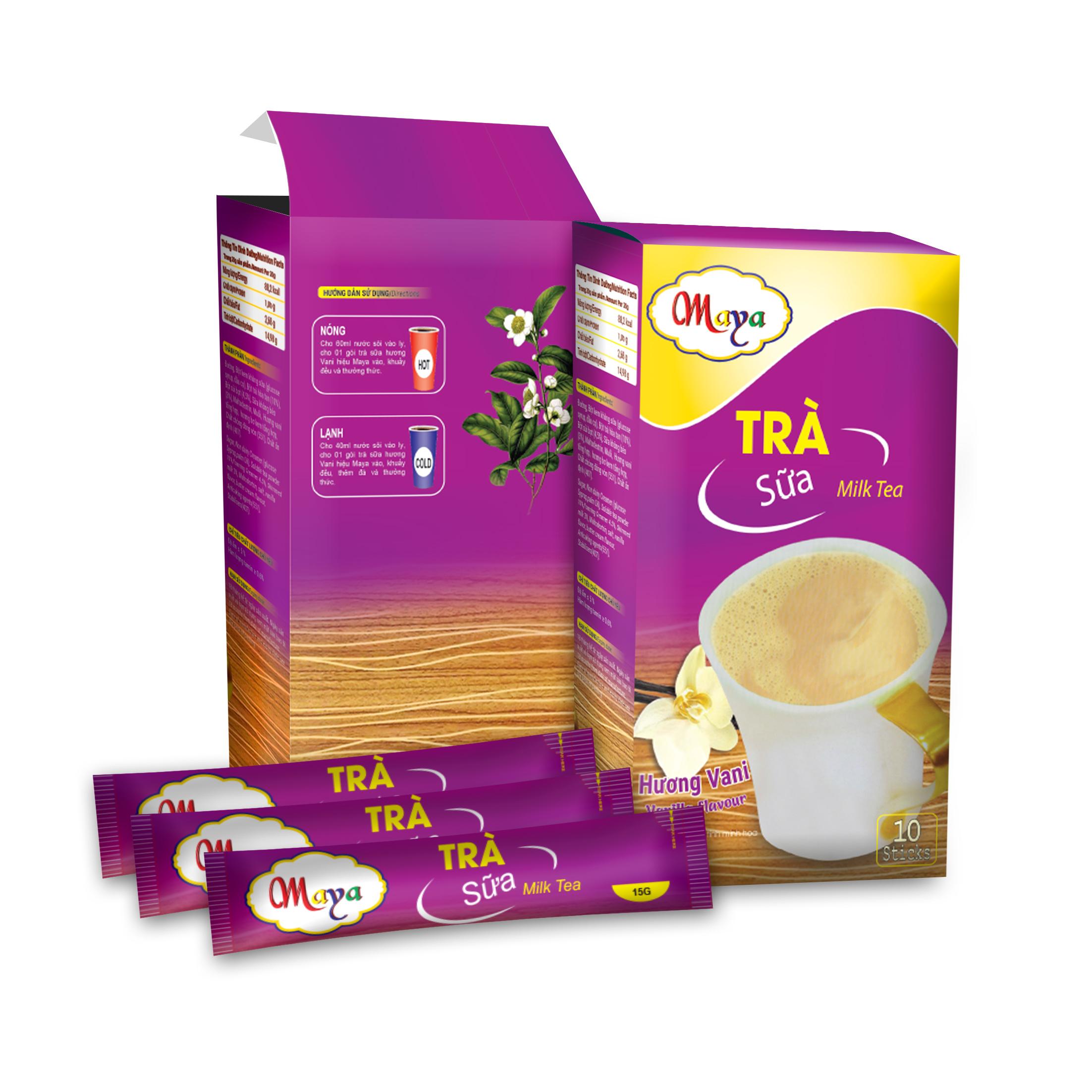Bột trà Sữa Maya Vanilla (10 Gói)