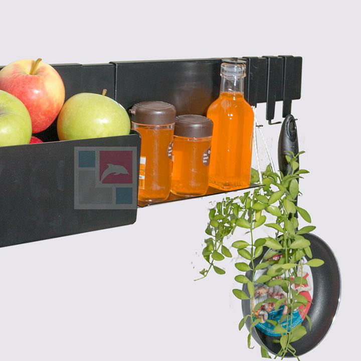 Kệ nhà bếp Rack SMLIFE 60cm – Số 1 - Black - Màu đen