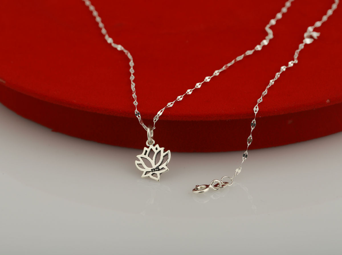 Opal - Dây chuyền bạc và mặt charm bạc _T08