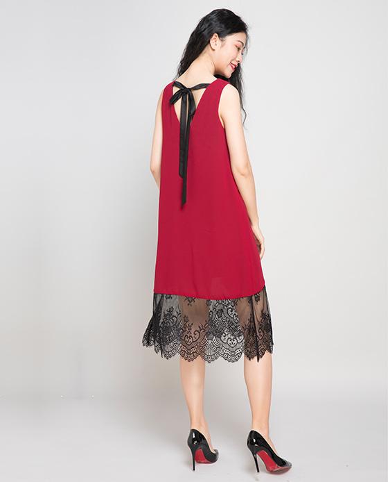 Đầm suông 2 trong 1 Hity DRE058 (đỏ cabernet)