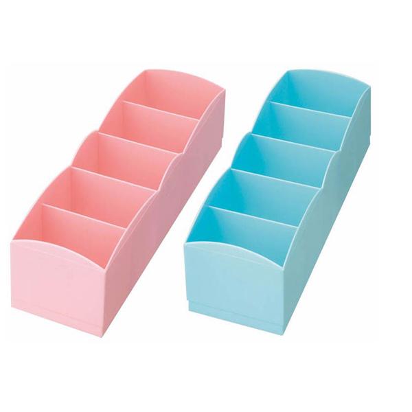 Hàng Nhật – Hộp đựng tất, đồ lót 5 ngăn ( màu hồng, xanh) giao màu ngẫu nhiên