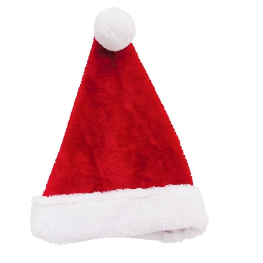 Mũ ông già Noel cho trẻ em 38x26cm bằng polyester_XB1433-Giao ngẫu nhiên
