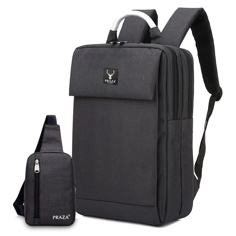 Combo balo laptop quai nhôm cao cấp và túi đeo chéo Praza – BL159DC095