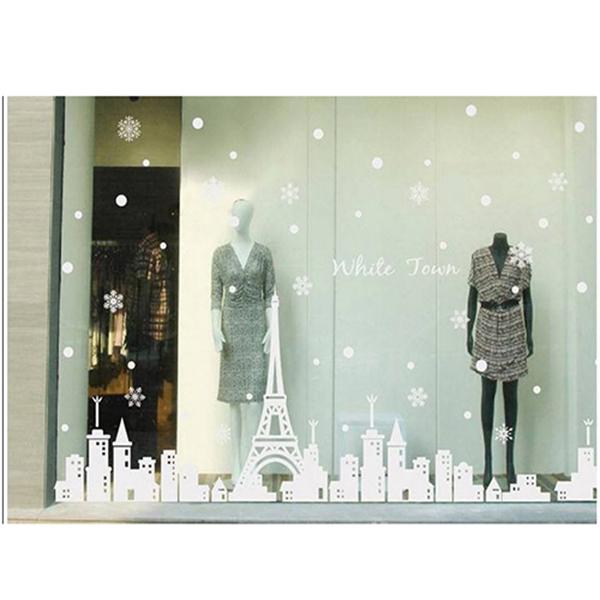 Decal dán tường thành phố Paris mùa đông PK149