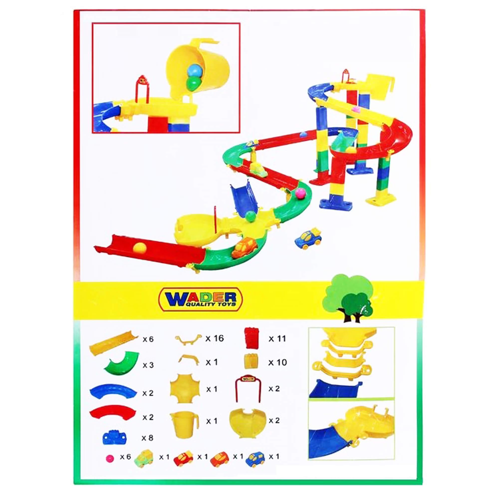 Bộ mô hình đồ chơi đường đua cho bi và xe ô tô Số 2 Wader Toys