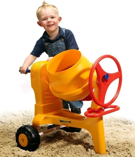 Bộ đồ chơi dụng cụ xây dựng số 7 và máy trộn xi măng Wader