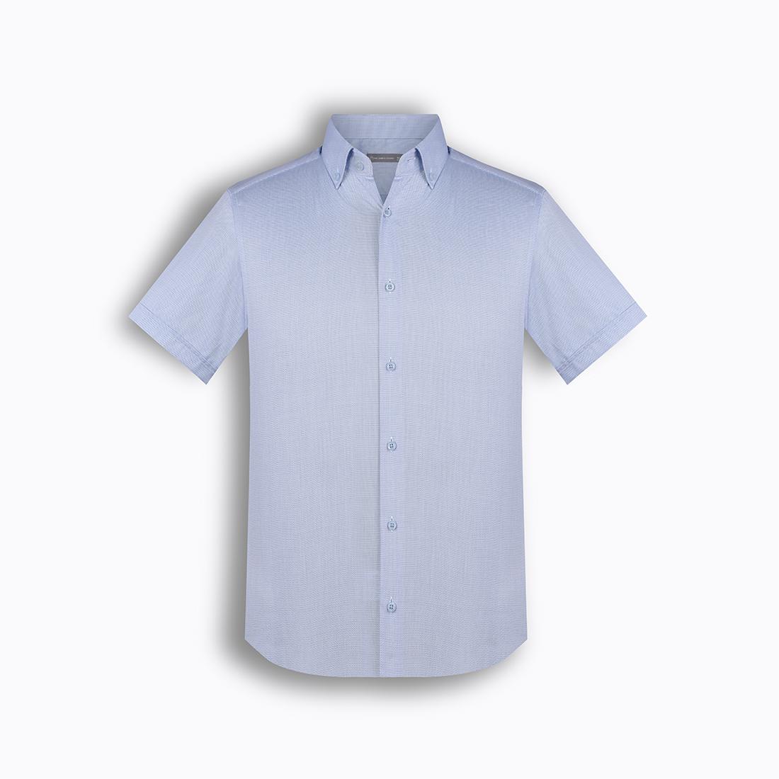 Áo sơ mi nam tay ngắn họa tiết The Shirts Studio Hàn Quốc TD42F2316BL