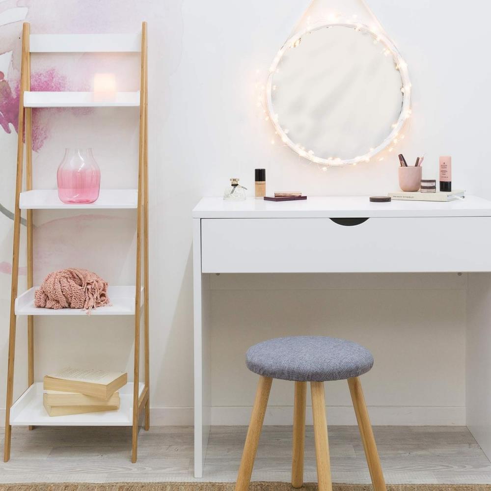 Bàn trang điểm Mari gỗ cao su (không có ghế và gương) -Cozino