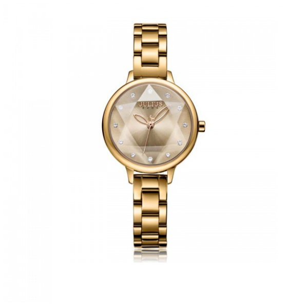 Đồng hồ nữ chính hãng Julius Hàn Quốc JA-1152E (nâu) mặt cắt tuyệt đẹp