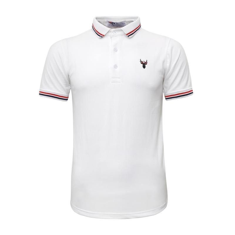 Áo thun nam polo bo dệt chuẩn mọi phong cách Pigofashion chuẩn xuất khẩu AHT16 trắng