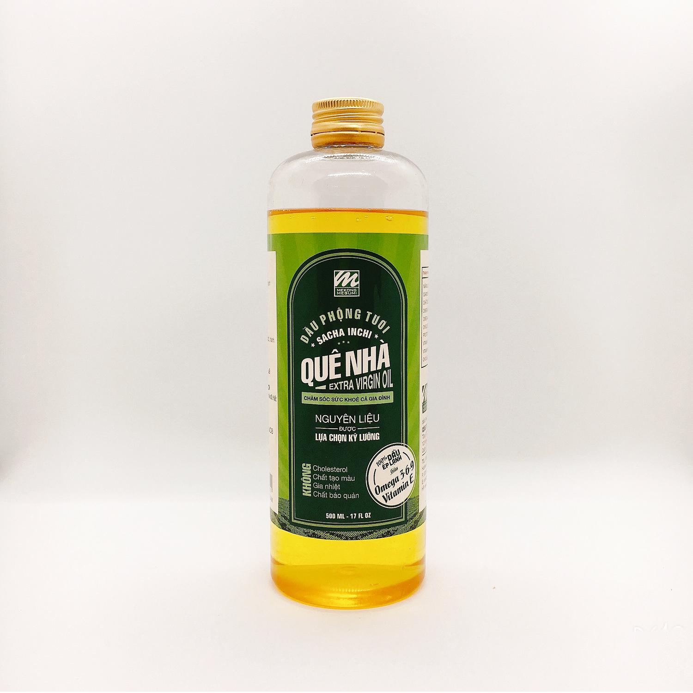 Dầu phộng tươi omega 3-6-9 ép lạnh (Omega 3-6-9 peanut oil – Mekông Megumi) – 500ml